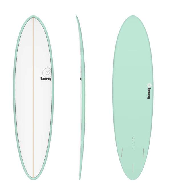 7'2 Torq Funboard Seagreen White Deck