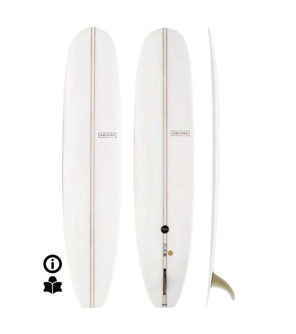 9'1 Modern Retro PU Double Stringer Clear LIMITED
