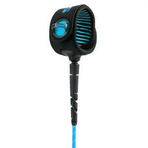 FCS 7' Freedom Helix All Round Leash Blue and Black
